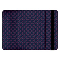 Purple Floral Seamless Pattern Flower Circle Star Samsung Galaxy Tab Pro 12 2  Flip Case