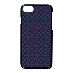 Purple Floral Seamless Pattern Flower Circle Star Apple Iphone 7 Seamless Case (black) by Mariart