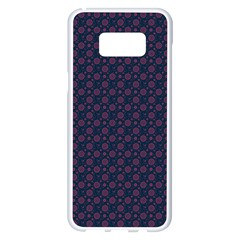Purple Floral Seamless Pattern Flower Circle Star Samsung Galaxy S8 Plus White Seamless Case by Mariart