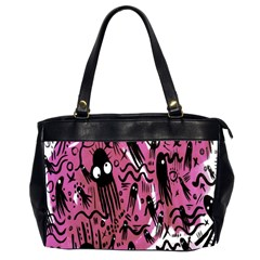 Octopus Colorful Cartoon Octopuses Pattern Black Pink Office Handbags (2 Sides)  by Mariart