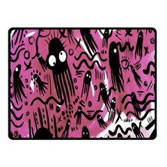 Octopus Colorful Cartoon Octopuses Pattern Black Pink Fleece Blanket (small)