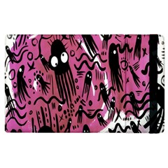 Octopus Colorful Cartoon Octopuses Pattern Black Pink Apple Ipad 2 Flip Case by Mariart