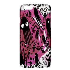 Octopus Colorful Cartoon Octopuses Pattern Black Pink Apple Iphone 6 Plus/6s Plus Hardshell Case by Mariart