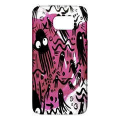 Octopus Colorful Cartoon Octopuses Pattern Black Pink Galaxy S6 by Mariart