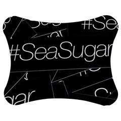 Sea Sugar Line Black Jigsaw Puzzle Photo Stand (bow) by Mariart