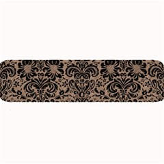 Damask2 Black Marble & Brown Colored Pencil (r) Large Bar Mat by trendistuff