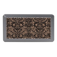 Damask2 Black Marble & Brown Colored Pencil (r) Memory Card Reader (mini) by trendistuff
