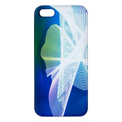 Net Sea Blue Sky Waves Wave Chevron Apple Iphone 5 Premium Hardshell Case by Mariart
