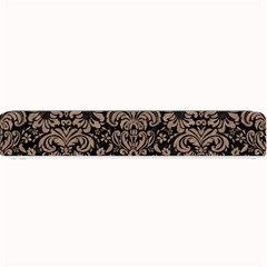 Damask2 Black Marble & Brown Colored Pencil Small Bar Mat by trendistuff