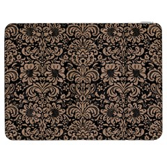 Damask2 Black Marble & Brown Colored Pencil Samsung Galaxy Tab 7  P1000 Flip Case by trendistuff