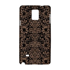 Damask2 Black Marble & Brown Colored Pencil Samsung Galaxy Note 4 Hardshell Case by trendistuff