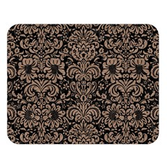 Damask2 Black Marble & Brown Colored Pencil Double Sided Flano Blanket (large) by trendistuff
