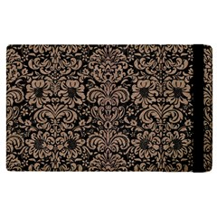 Damask2 Black Marble & Brown Colored Pencil Apple Ipad Pro 9 7   Flip Case by trendistuff