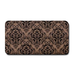 Damask1 Black Marble & Brown Colored Pencil (r) Medium Bar Mat by trendistuff