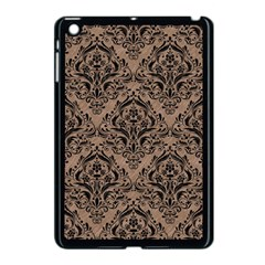 Damask1 Black Marble & Brown Colored Pencil (r) Apple Ipad Mini Case (black) by trendistuff