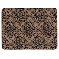 Damask1 Black Marble & Brown Colored Pencil (r) Samsung Galaxy Tab 7  P1000 Flip Case by trendistuff