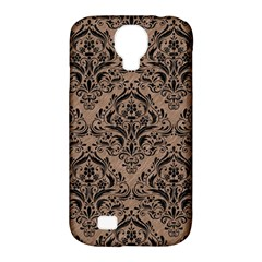 Damask1 Black Marble & Brown Colored Pencil (r) Samsung Galaxy S4 Classic Hardshell Case (pc+silicone) by trendistuff