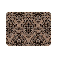 Damask1 Black Marble & Brown Colored Pencil (r) Double Sided Flano Blanket (mini) by trendistuff