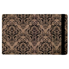 Damask1 Black Marble & Brown Colored Pencil (r) Apple Ipad Pro 9 7   Flip Case