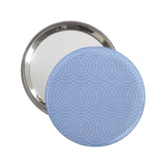 Seamless Lines Concentric Circles Trendy Color Heavenly Light Airy Blue 2 25  Handbag Mirrors by Mariart