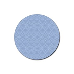 Seamless Lines Concentric Circles Trendy Color Heavenly Light Airy Blue Rubber Coaster (round)  by Mariart