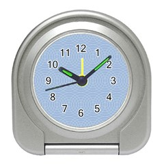 Seamless Lines Concentric Circles Trendy Color Heavenly Light Airy Blue Travel Alarm Clocks