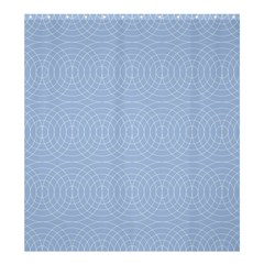 Seamless Lines Concentric Circles Trendy Color Heavenly Light Airy Blue Shower Curtain 66  X 72  (large)  by Mariart