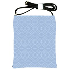Seamless Lines Concentric Circles Trendy Color Heavenly Light Airy Blue Shoulder Sling Bags