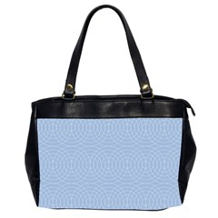 Seamless Lines Concentric Circles Trendy Color Heavenly Light Airy Blue Office Handbags (2 Sides)  by Mariart