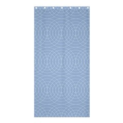 Seamless Lines Concentric Circles Trendy Color Heavenly Light Airy Blue Shower Curtain 36  X 72  (stall)  by Mariart