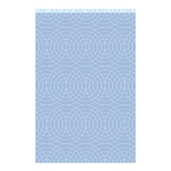 Seamless Lines Concentric Circles Trendy Color Heavenly Light Airy Blue Shower Curtain 48  X 72  (small)  by Mariart