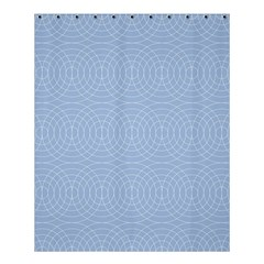 Seamless Lines Concentric Circles Trendy Color Heavenly Light Airy Blue Shower Curtain 60  X 72  (medium)  by Mariart