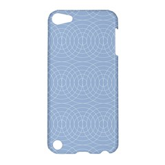 Seamless Lines Concentric Circles Trendy Color Heavenly Light Airy Blue Apple Ipod Touch 5 Hardshell Case by Mariart