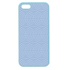 Seamless Lines Concentric Circles Trendy Color Heavenly Light Airy Blue Apple Seamless Iphone 5 Case (color) by Mariart