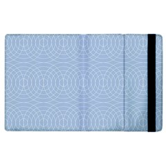 Seamless Lines Concentric Circles Trendy Color Heavenly Light Airy Blue Apple Ipad 2 Flip Case by Mariart
