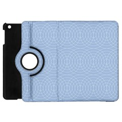 Seamless Lines Concentric Circles Trendy Color Heavenly Light Airy Blue Apple Ipad Mini Flip 360 Case