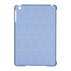 Seamless Lines Concentric Circles Trendy Color Heavenly Light Airy Blue Apple Ipad Mini Hardshell Case (compatible With Smart Cover) by Mariart