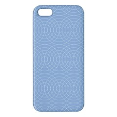 Seamless Lines Concentric Circles Trendy Color Heavenly Light Airy Blue Apple Iphone 5 Premium Hardshell Case by Mariart