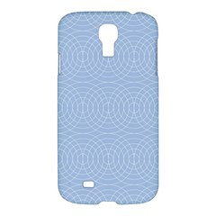 Seamless Lines Concentric Circles Trendy Color Heavenly Light Airy Blue Samsung Galaxy S4 I9500/i9505 Hardshell Case by Mariart