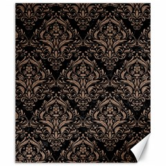 Damask1 Black Marble & Brown Colored Pencil Canvas 20  X 24  by trendistuff