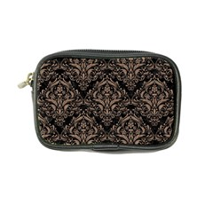 Damask1 Black Marble & Brown Colored Pencil Coin Purse by trendistuff