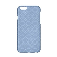 Seamless Lines Concentric Circles Trendy Color Heavenly Light Airy Blue Apple Iphone 6/6s Hardshell Case by Mariart