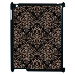 Damask1 Black Marble & Brown Colored Pencil Apple Ipad 2 Case (black) by trendistuff