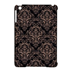 Damask1 Black Marble & Brown Colored Pencil Apple Ipad Mini Hardshell Case (compatible With Smart Cover) by trendistuff