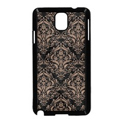 Damask1 Black Marble & Brown Colored Pencil Samsung Galaxy Note 3 Neo Hardshell Case (black) by trendistuff