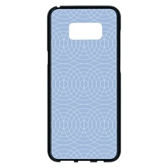 Seamless Lines Concentric Circles Trendy Color Heavenly Light Airy Blue Samsung Galaxy S8 Plus Black Seamless Case