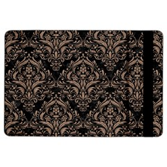 Damask1 Black Marble & Brown Colored Pencil Apple Ipad Air 2 Flip Case by trendistuff