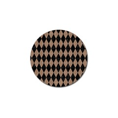 Diamond1 Black Marble & Brown Colored Pencil Golf Ball Marker (10 Pack) by trendistuff