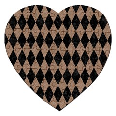 Diamond1 Black Marble & Brown Colored Pencil Jigsaw Puzzle (heart) by trendistuff