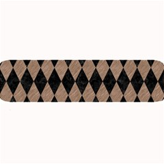 Diamond1 Black Marble & Brown Colored Pencil Large Bar Mat by trendistuff